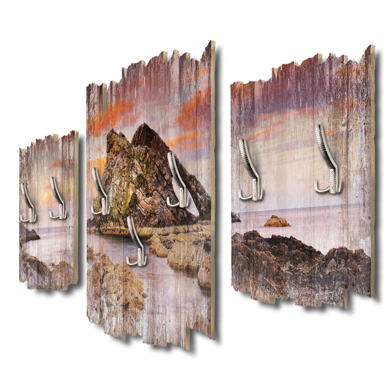 Kreative Feder Bow Fiddle Rock Schottland Designer Wandgarderobe Flurgarderobe Wandpaneele 95 x 60 cm aus MDF-Holz DTGH004