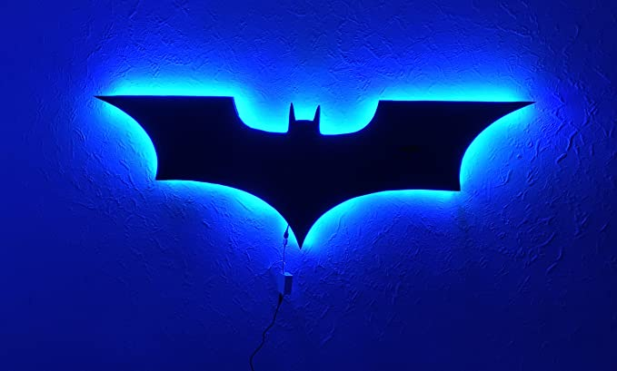 Dc comics batman logo batman led wall lightcolorful rgb usb led dc comics batman logo batman led wall lightcolorful rgb usb led mirror light aloadofball Choice Image