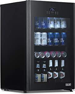 NewAir Froster and Beverage Refrigerator, Freestanding 125 Can Chiller with Party and Turbo Mode, Chills to 23 Degrees, Black, NBF125BK00