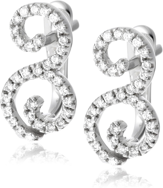 Miore M0358W - Pendientes de mujer de oro blanco (18k) con 66 diamantes, 1 cm