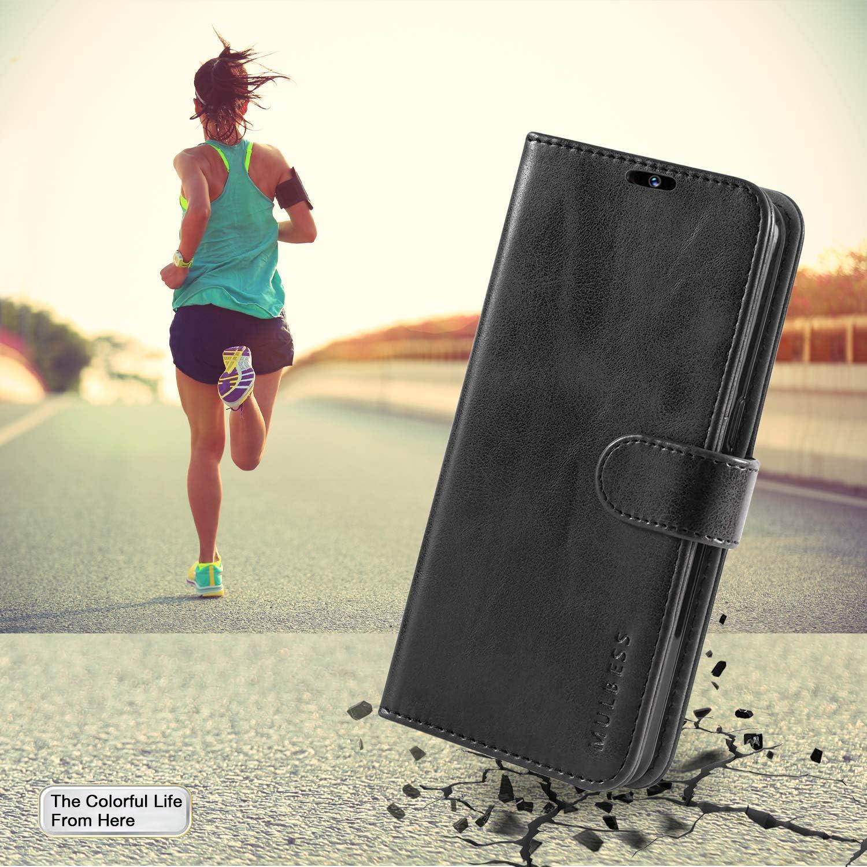 Libro Caso Cubierta Negro con Tapa Magn/ética Carcasa para iPhone 11 Case Mulbess Funda iPhone 11 Vintage de Billetera Cuero de la PU