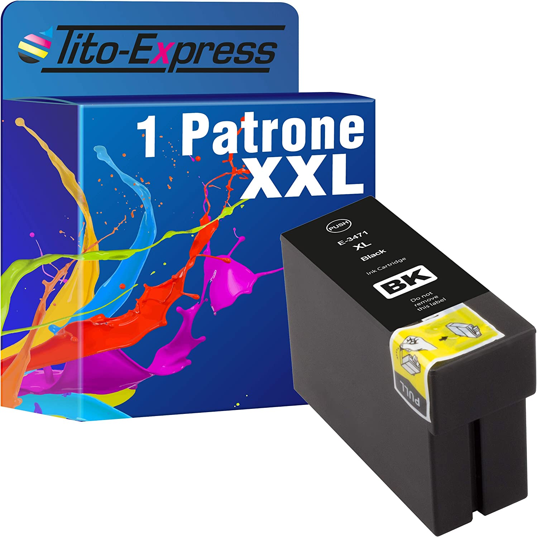 Tito Express Platinumserie 1 Patrone Xxl Kompatibel Mit Epson T3471 34 Xl Epson Workforce Pro Wf3700 Wf3720 Dw Series Wf3725 Dwf Wf3720dw Wf3720dwf Wf3725dwf Black 30ml Bürobedarf Schreibwaren