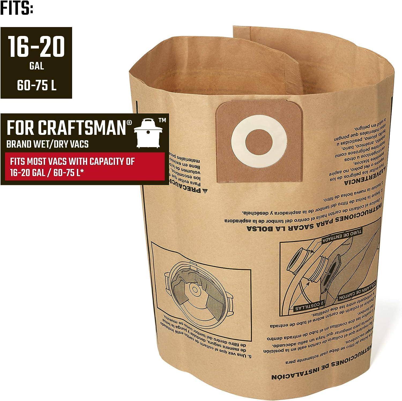 Amazon.com: CRAFTSMAN 38749 Bolsas de recolección de polvo ...