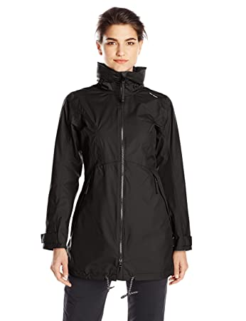 Amazon.com: Helly Hansen Women's Laurel Long Rain Jacket: Sports ...