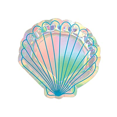 Amscan Mermaid Wishes Dessert Plates (8 ct): Toys & Games