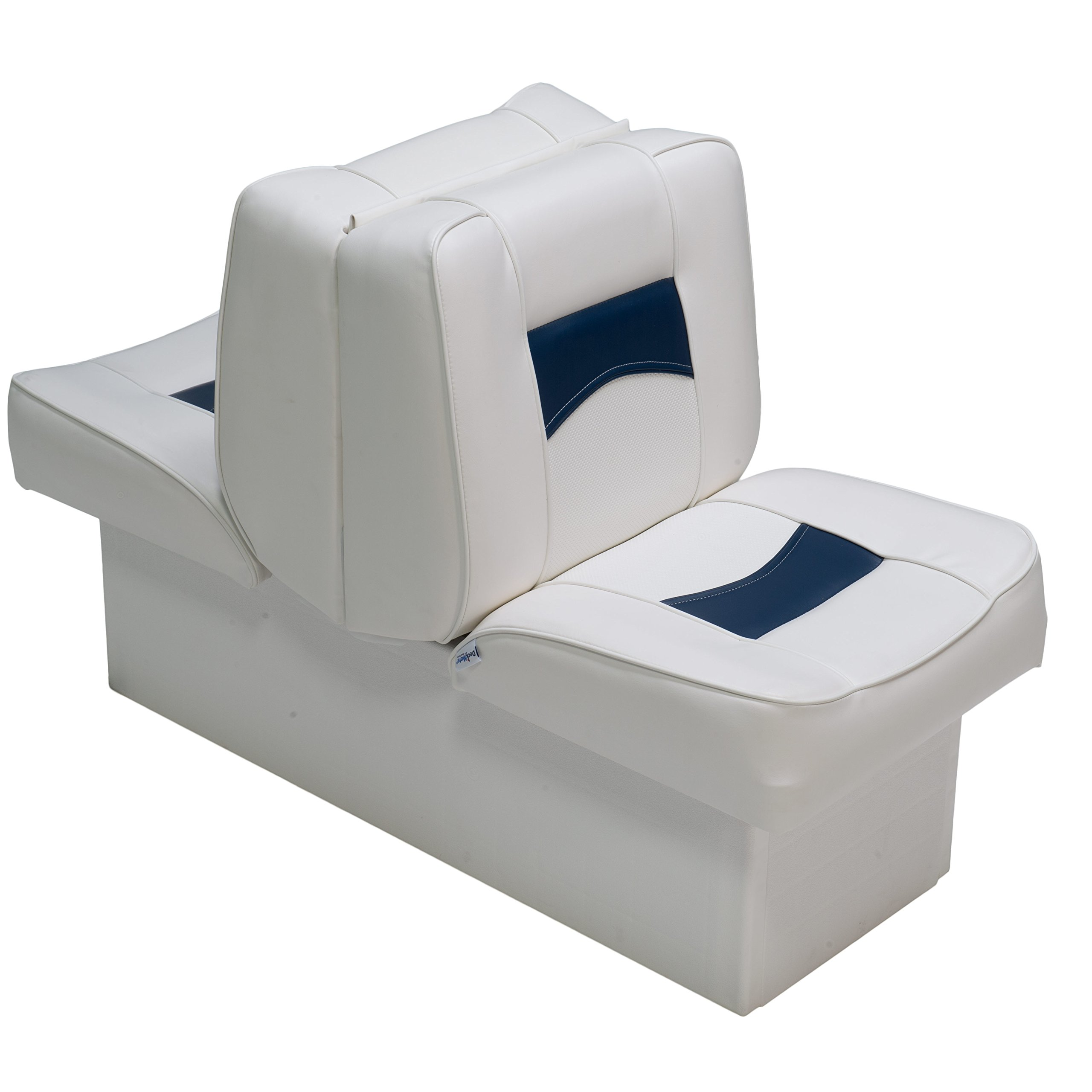 Classic Back to Back Seats (White and Blue) by DeckMate