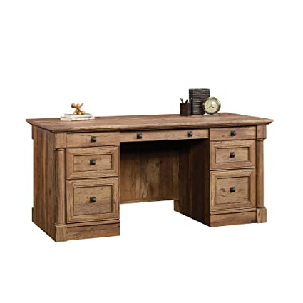 Sauder 420604 Palladia Executive Desk, Vintage Oak Finish - Amazon.com: Sauder 420604 Palladia Executive Desk, Vintage Oak