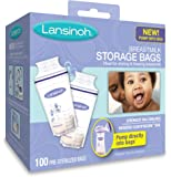Lansinoh Breastmilk Pre Sterilised Storage Bag - 100 Pieces