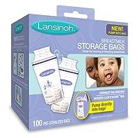 Lansinoh Bolsas de almacenamiento de leche materna, 100 Count, BPA libre y BPS libre