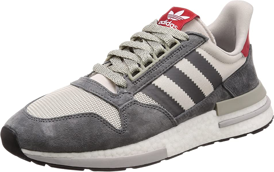 24e07ce71 Amazon.com  adidas - ZX 500 RM - B42204 - Color  Grey-Red-White ...