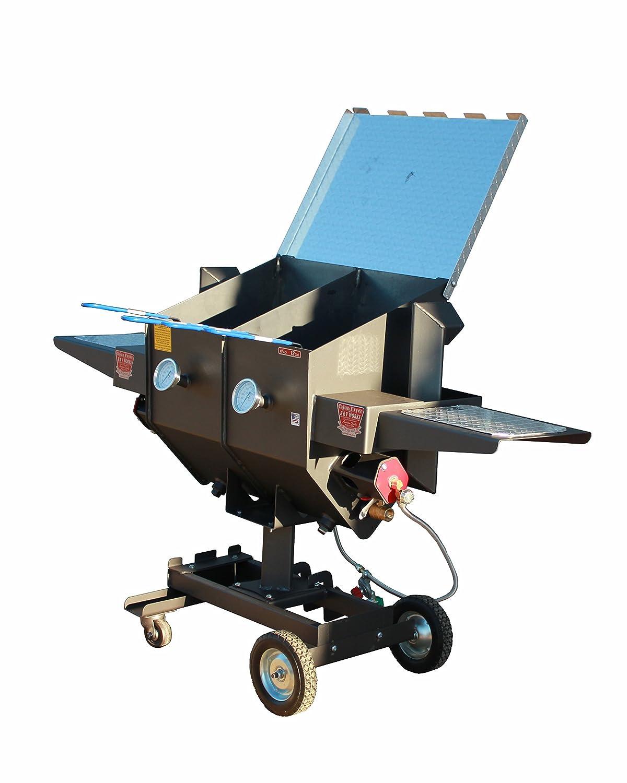 R&V WORKS FF4 Carbon Steel Material 12 Gallon 4 Basket Divided Fryer