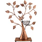 MyGift Jewelry Tree w/ Bird Nest 48 pair Earrings Holder, Bracelets / Necklace Organizer Stand