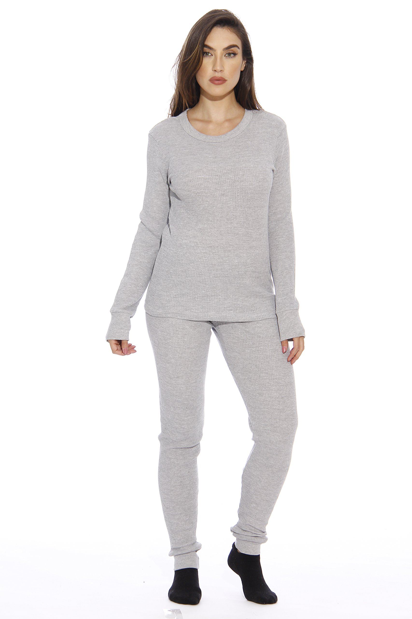 95862-Grey-XL Just Love Women's Thermal Underwear Set / Base Layer Thermals