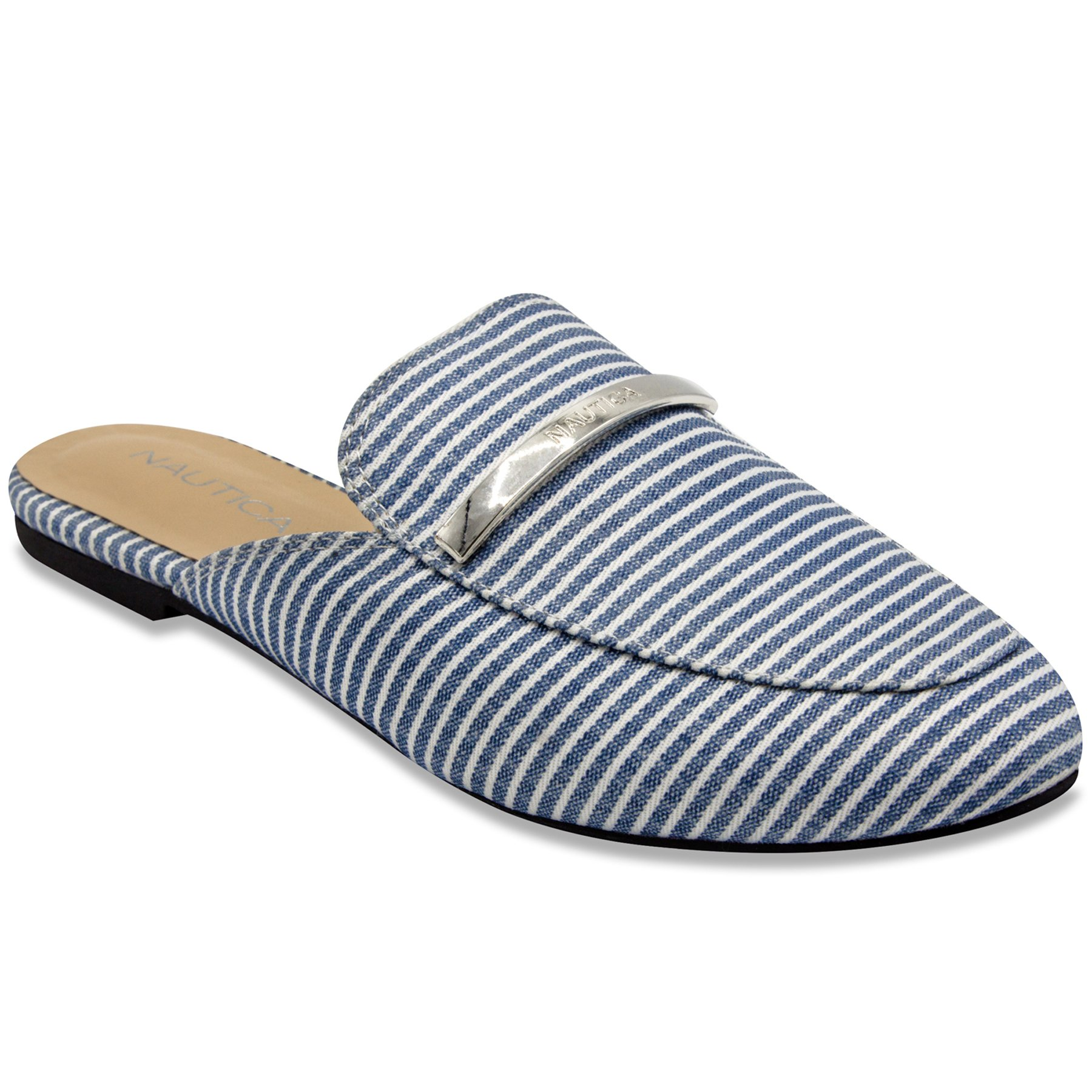 Nautica labella Mule Slide Backless Slip On Loafers-Blue -8