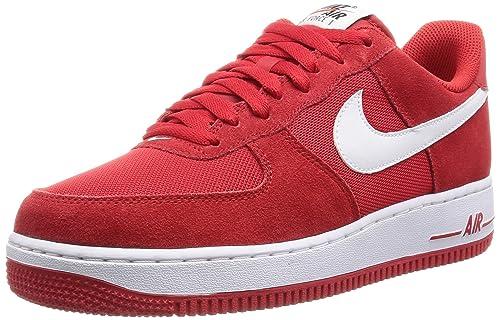 quality design 7d107 1890c Nike Air Force 1, Scarpe da Basket Uomo, Rojo (Game RedWhite), 50 12 EU  Amazon.it Scarpe e borse