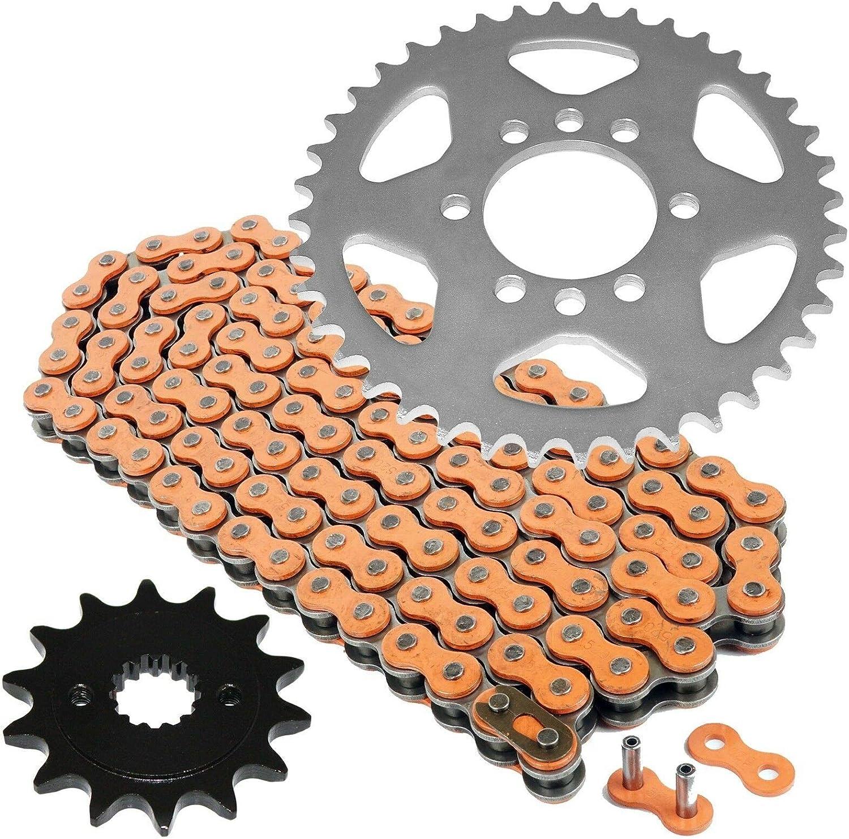 Caltric Orange Drive Chain And Sprockets Kit for Kawasaki Kfx400 Ksf400A 2003-2006