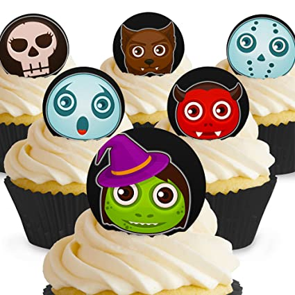 Cakeshop 12 X Essbare Gruselige Halloween Kuchen Dekoration