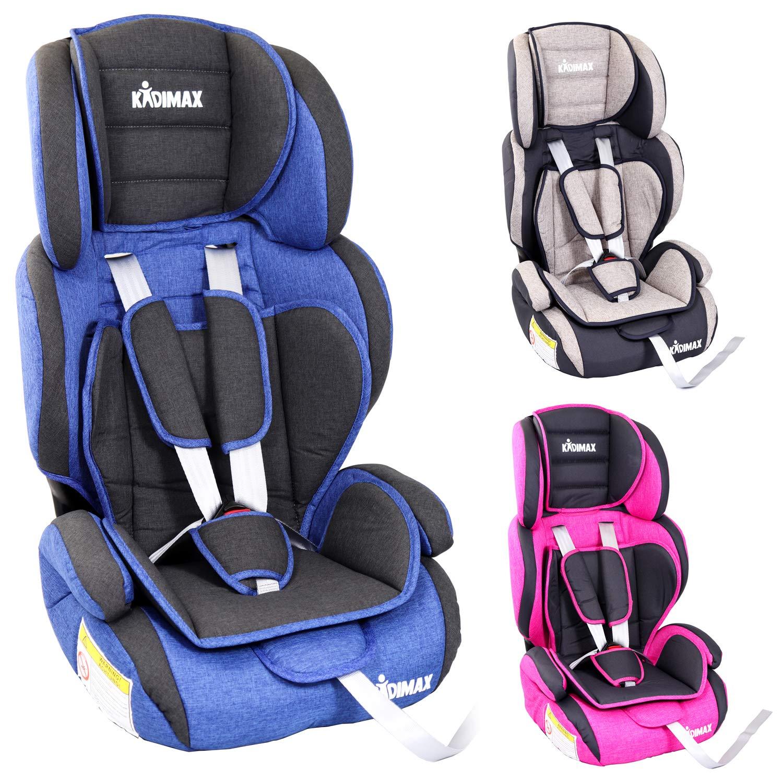 KIDIMAX® Autokindersitz Kindersitz Kinderautositz, Sitzschale, universal, zugelassen nach ECE R44/04, in 3, 9 kg - 36 kg 1-12 Jahre, Gruppe 1/2 / 3 (Pink) KIDIMAX®