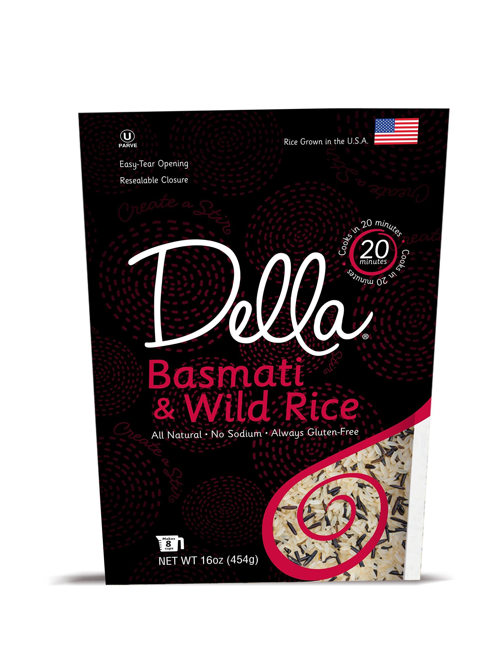 Della - Basmati and Wild Blend (16 Ounces, 8 Pack)