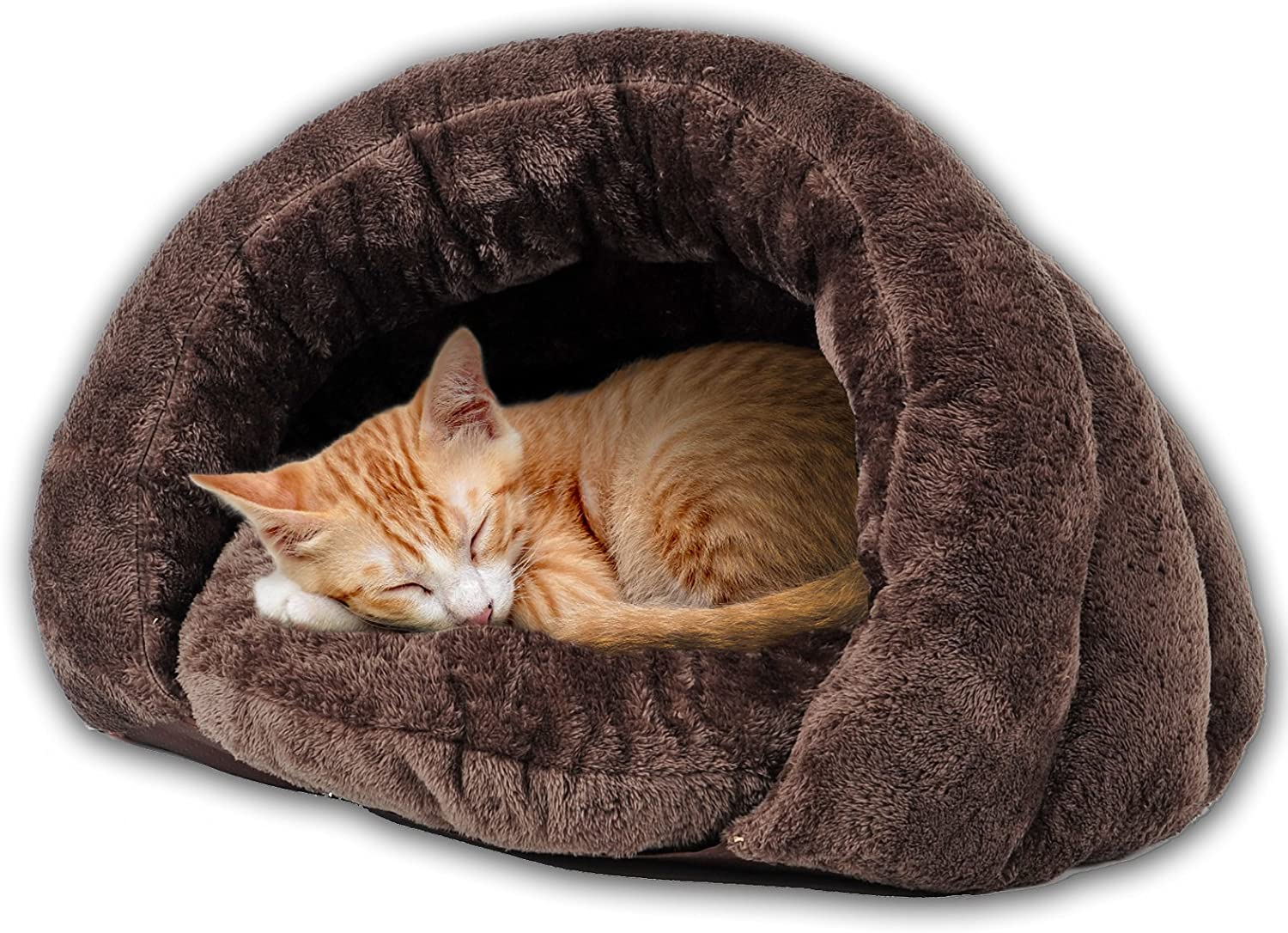 PLS Birdsong The Original Cuddle Pouch Pet Bed, Extra Small, Dog Cave, Cosy, for Burrower Cats and Puppies