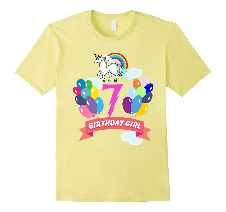 7th Birthday Unicorn Shirt PL
