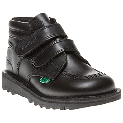 000f9172fe Kickers Kids (Infants) Kick Styly Black Leather School Shoes: Amazon.co.uk:  Shoes & Bags
