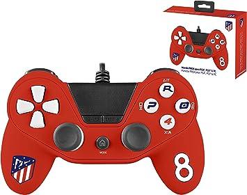 Mando con cable Pro4 controller para consola PS4 / Slim/ Pr - PC -PS3 - Accesorios de videojuegos Atlético de Madrid: Amazon.es: Videojuegos