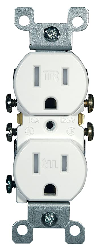 Leviton T5320-W 15 Amp, 125 Volt, Tamper Resistant, Duplex ...