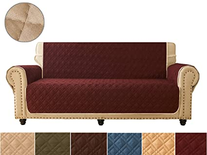 Sofa Cover, Reversible Quilted Furniture Protector, Ideal Sofa Slipcovers for Pets & Children, Water Resistant, Will Keep Your Couch Stain, ...