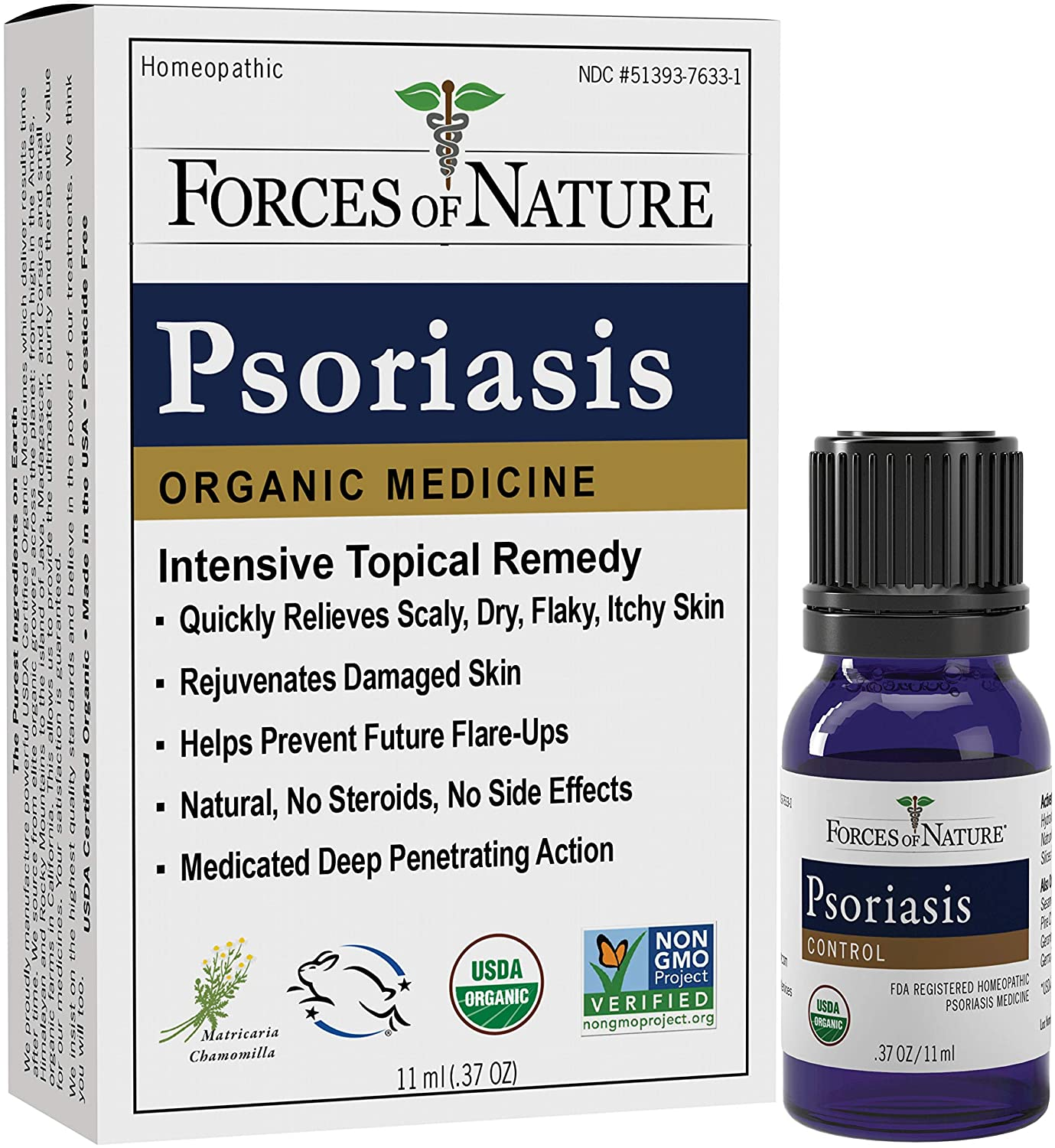 Forces of Nature -Natural, Organic Psoriasis Relief (11ml) Non GMO