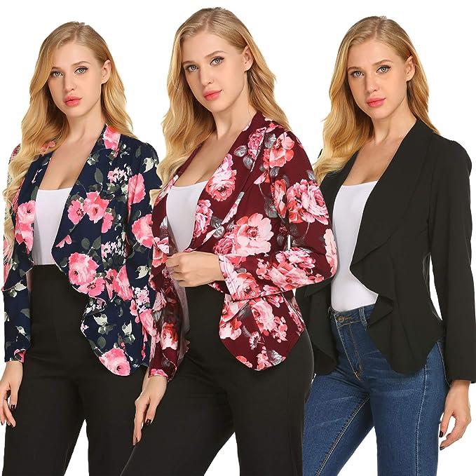Amazon.com: Chaqueta ligera Blazer para mujer casual de ...
