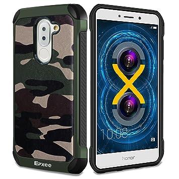 Epxee Funda Huawei Honor 6X, Silicona [Shock-Absorción] Case Carcasa para Huawei Honor 6X (Camuflado-001)
