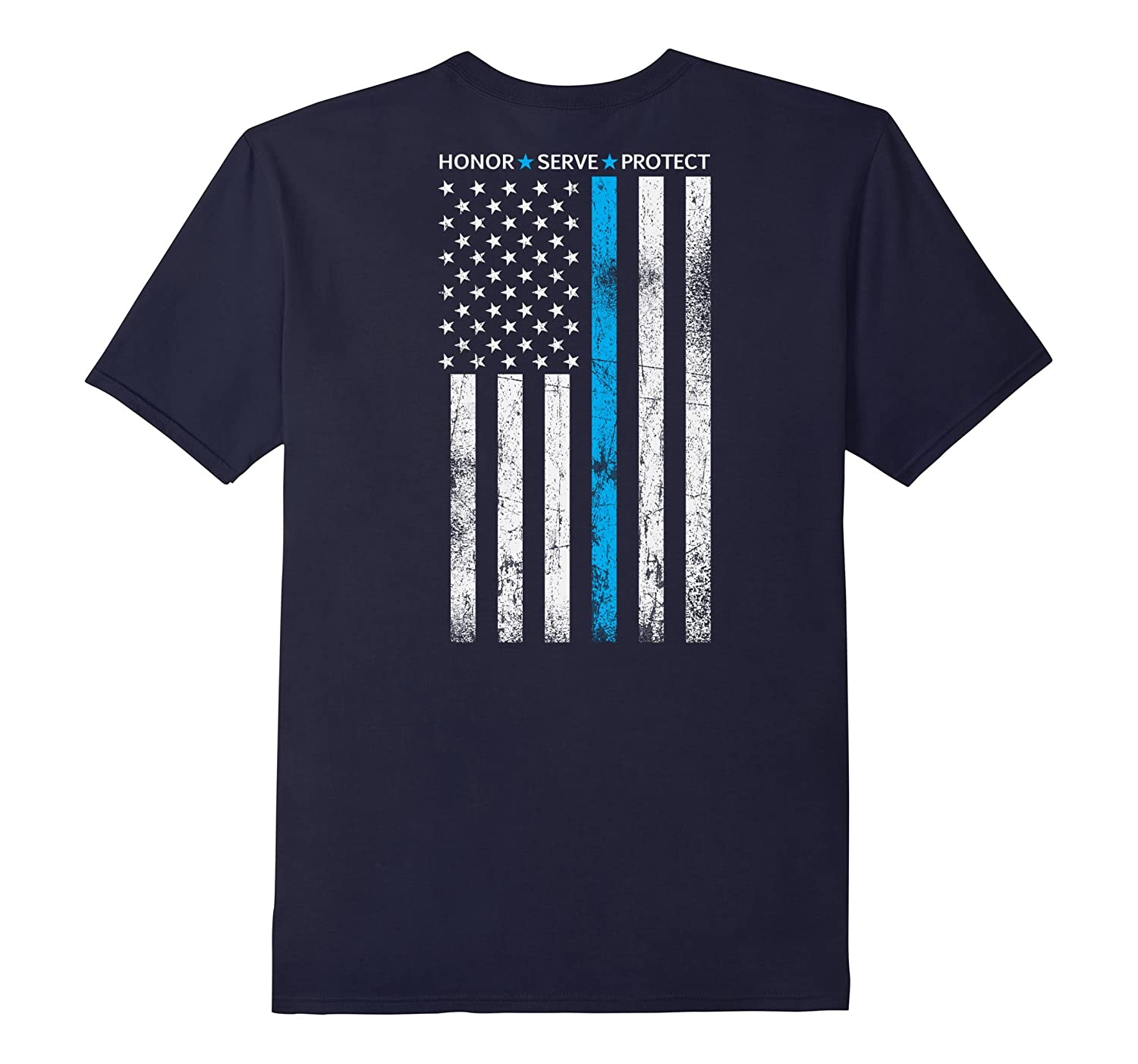 Thin Blue Line Shirt Honor Serve Protect