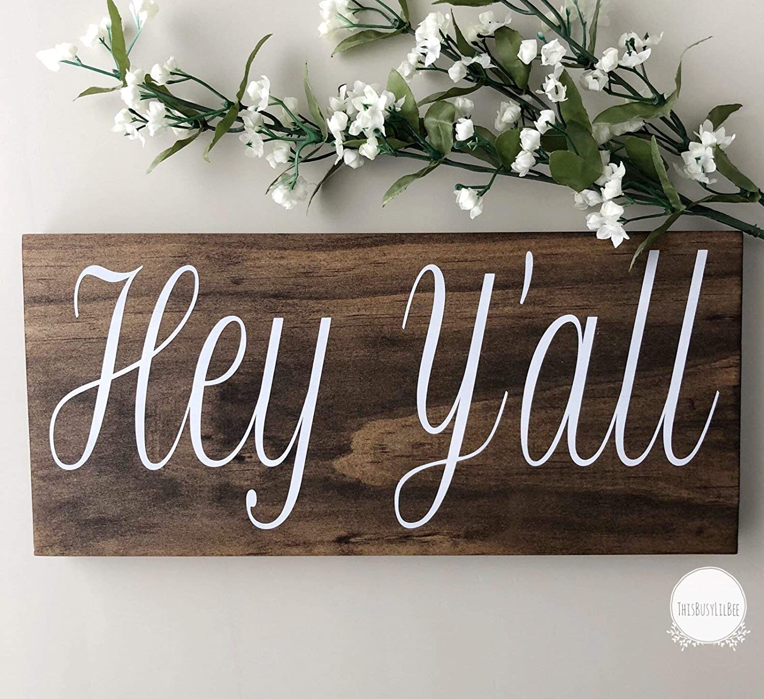CELYCASY Hey, Hey Y'all, Hey Y'all Sign, Welcome Sign, Home Sign, Southern Decor, Southern Sayings, Welcome Sign, Mantle Decor, Shelf Sitter