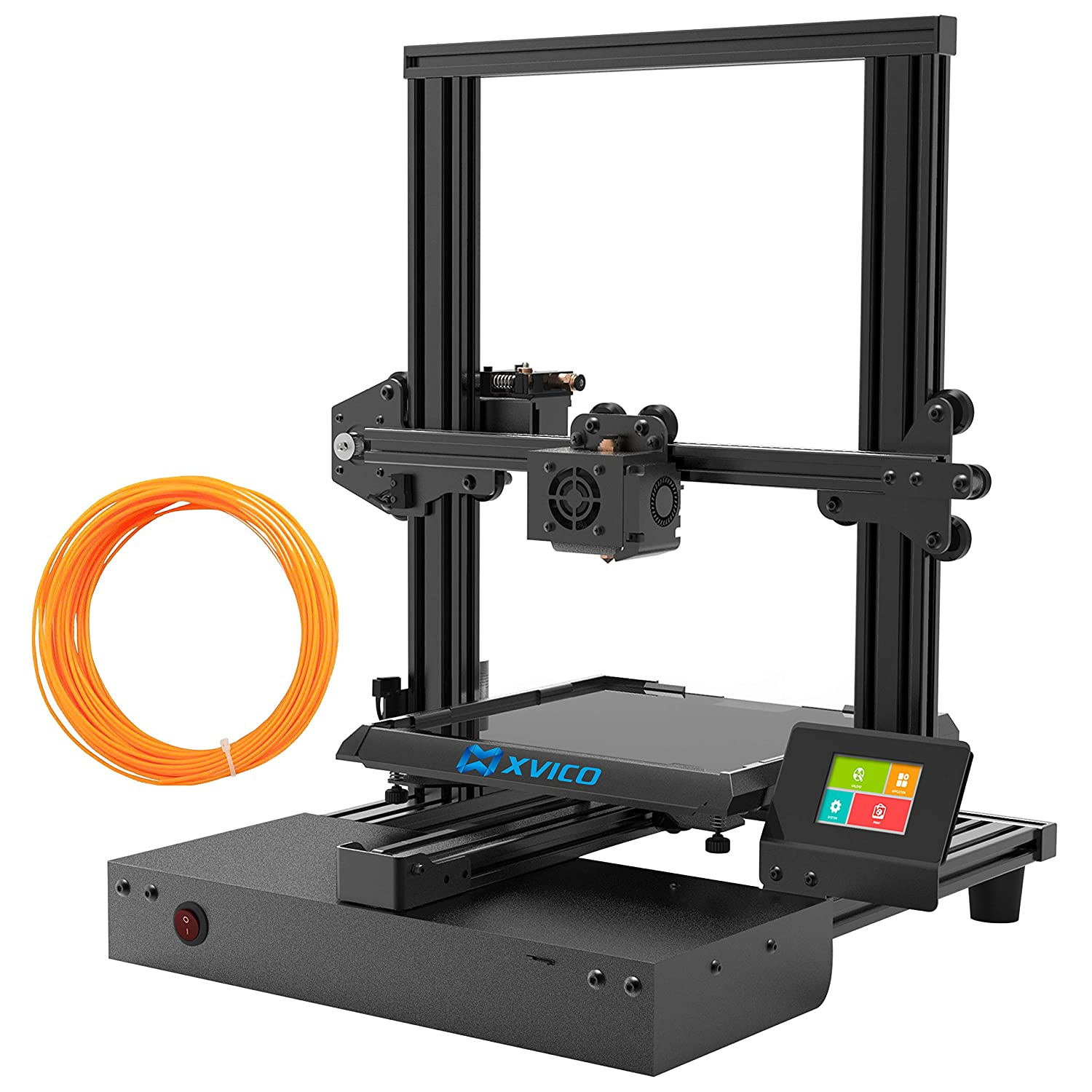 XVICO X3 Pro 3D Printers DIY Kit Aluminum Printing Machine with Filament Run Out Detection Sensor and Resume Print Metal Base Desktop 3D Printer UL Power for Home and School 200x200x250mm, Black