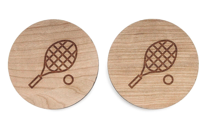 Racquetball Gemelos, Gemelos de madera hecho a mano en los Estados Unidos: Amazon.es: Joyería