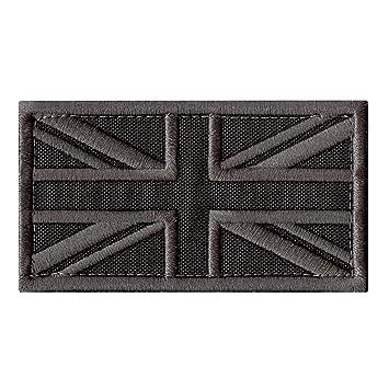 Great Britain UK flag Union Jack subdued ACU morale aufnäher gestickt hook patch