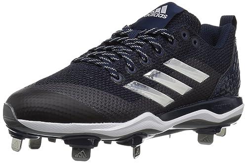 promo code 49dcf 717c3 adidas Men s Freak X Carbon Mid Softball Shoe, Collegiate Navy Metallic  Silver White