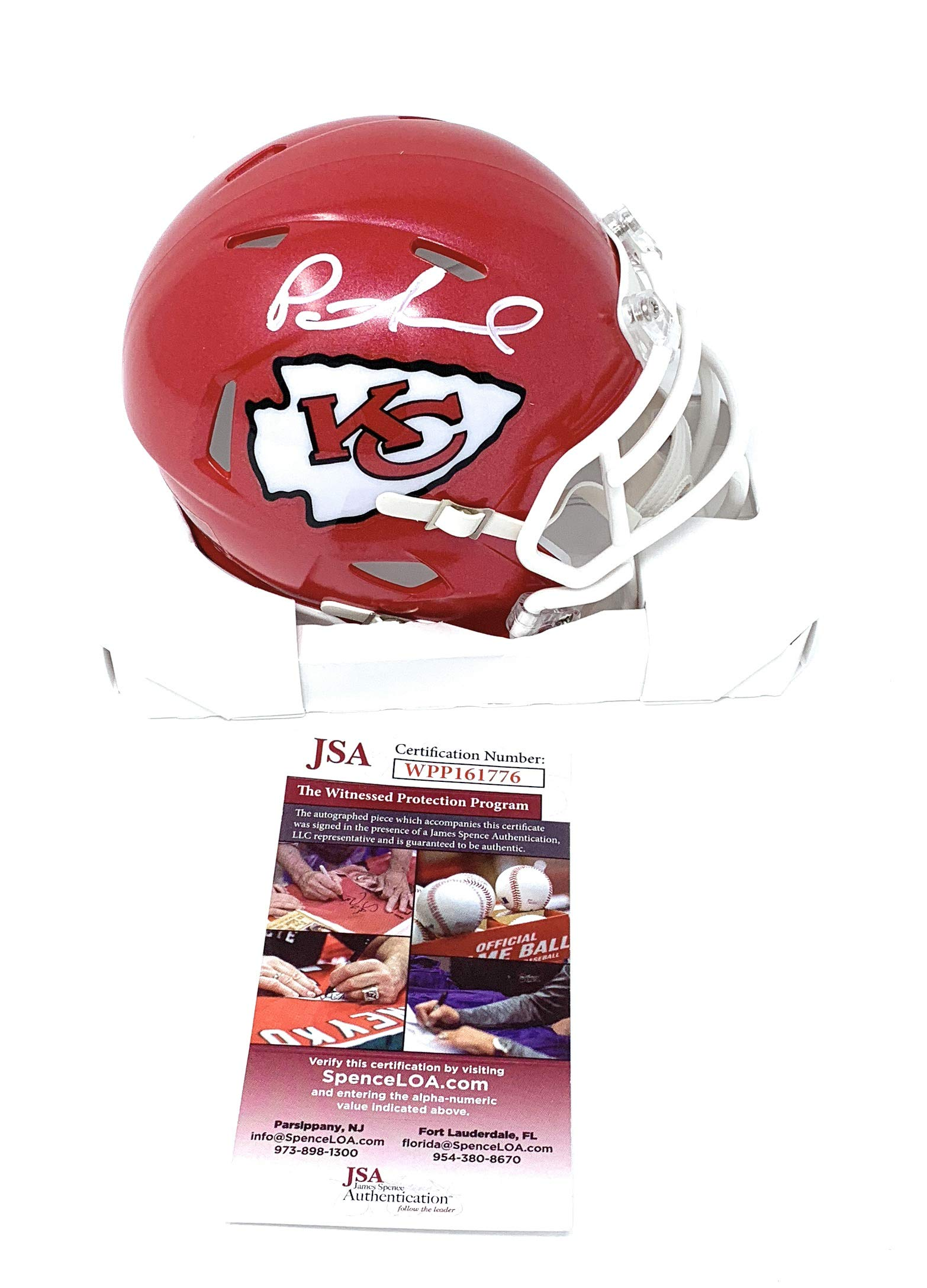 Patrick Mahomes Kansas City Chiefs Signed Autograph Speed Mini Helmet JSA  Witnessed Certified c3abf74f8