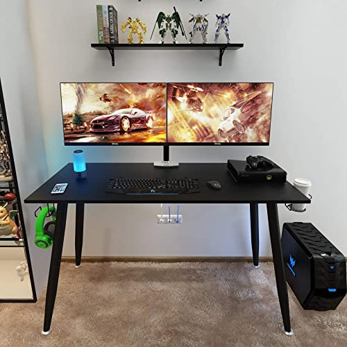 Need Gaming Desk-55 Large All-in-one Gamer Computer Table