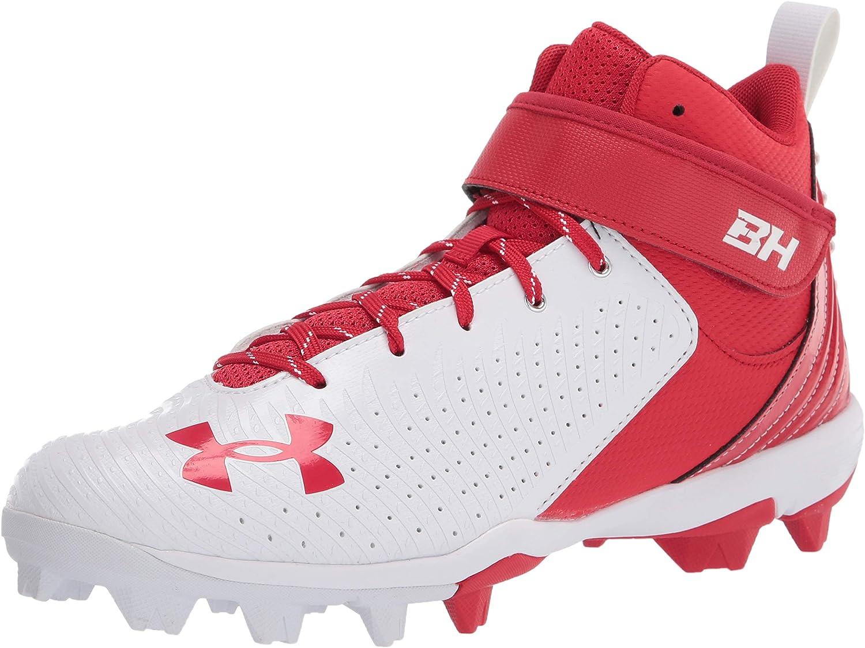 Under Armour Mens Harper 4 Mid Rm Baseball Shoe