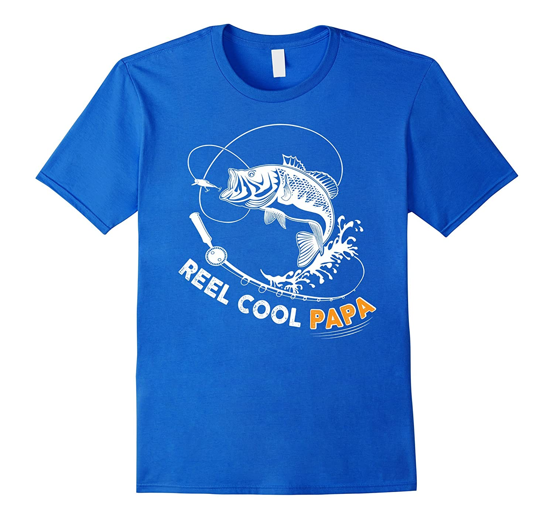 Mens Mens Reel Cool Papa t shirt cute fishing Father's day gift