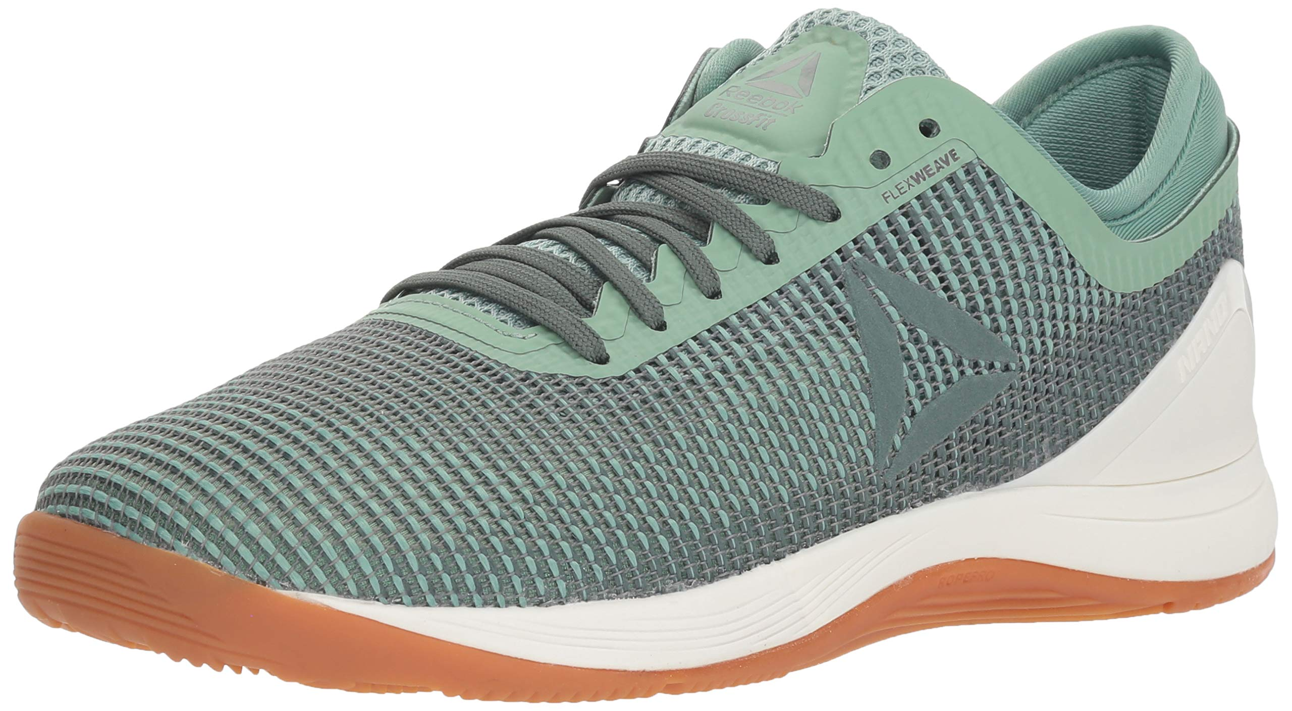 Reebok Women's CROSSFIT Nano 8.0 Flexweave Cross Trainer, industrial green/chalk grey, 5 M US by Reebok (Image #1)