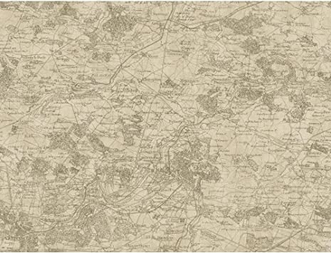 York Wallcoverings GX8176SMP Passport Vintage Map Wallpaper Memo Sample Brown Tan 8-Inch x 10-Inch Cream