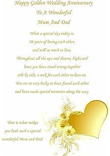 Mum Dad Golden Wedding Anniversary Card