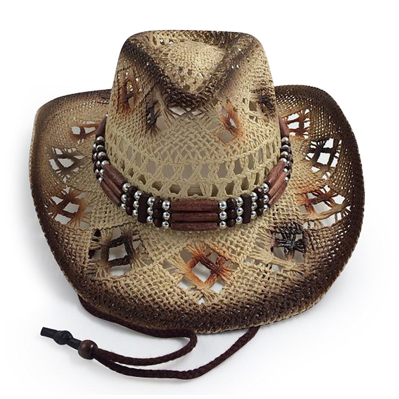 AccessHeadwear Old Stone Ava Women's Cowboy Drifter Style Hat, Brown 2402824