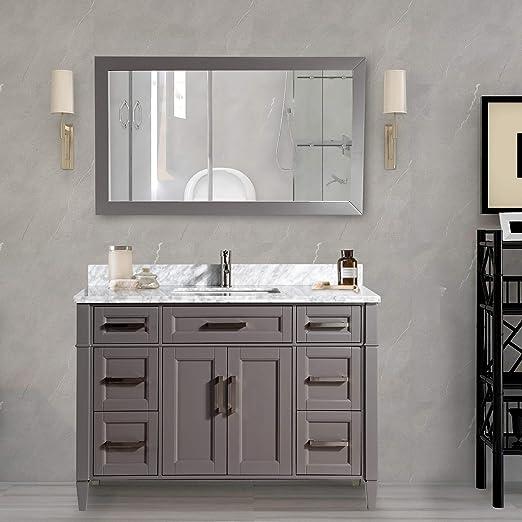 Vanity Art 60 Inch Single Sink Bathroom Vanity Set Carrara