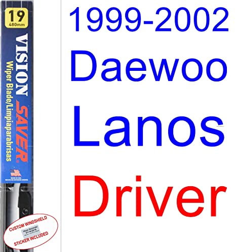 Amazon.com: 1999-2002 Daewoo Lanos Wiper Blade (Driver) (Saver Automotive Products-Vision Saver) (2000,2001): Automotive