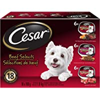 Cesar Entrées Food Trays for Dogs - Beef - Filet Mignon - Porterhouse - 100g (18 Pack)