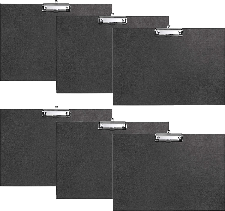 schwarz Gummiecken und H/änge/öse Klammer 1 St/ück, A3 hoch + 1 St/ück, A3 quer VELOFLEX Schreibplatte A3 aus PP mit Leinenstruktur